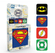 DC Comics Logos set of 4 cork backed drinks coasters   (ge)